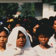 Protest march featured in the film Punitive Damage