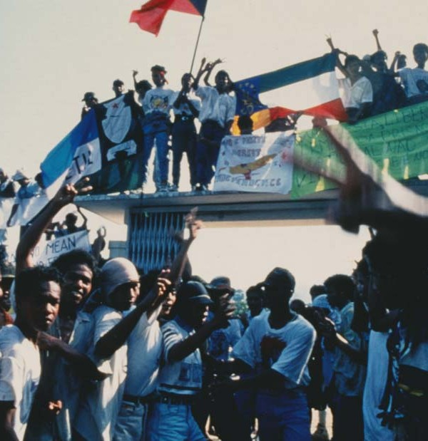 Rally at Santa Cruz in 1991 featured in the film Punitive Damage