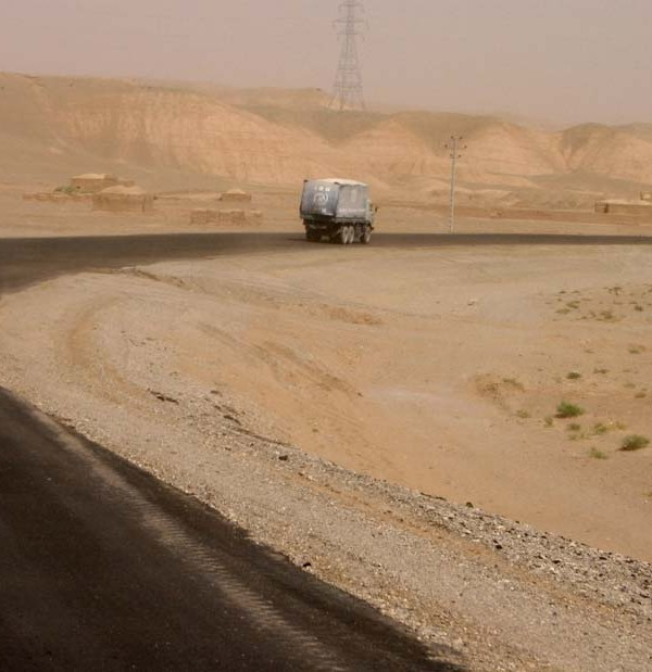On the road in Afghanistan from the film Pacific Solution