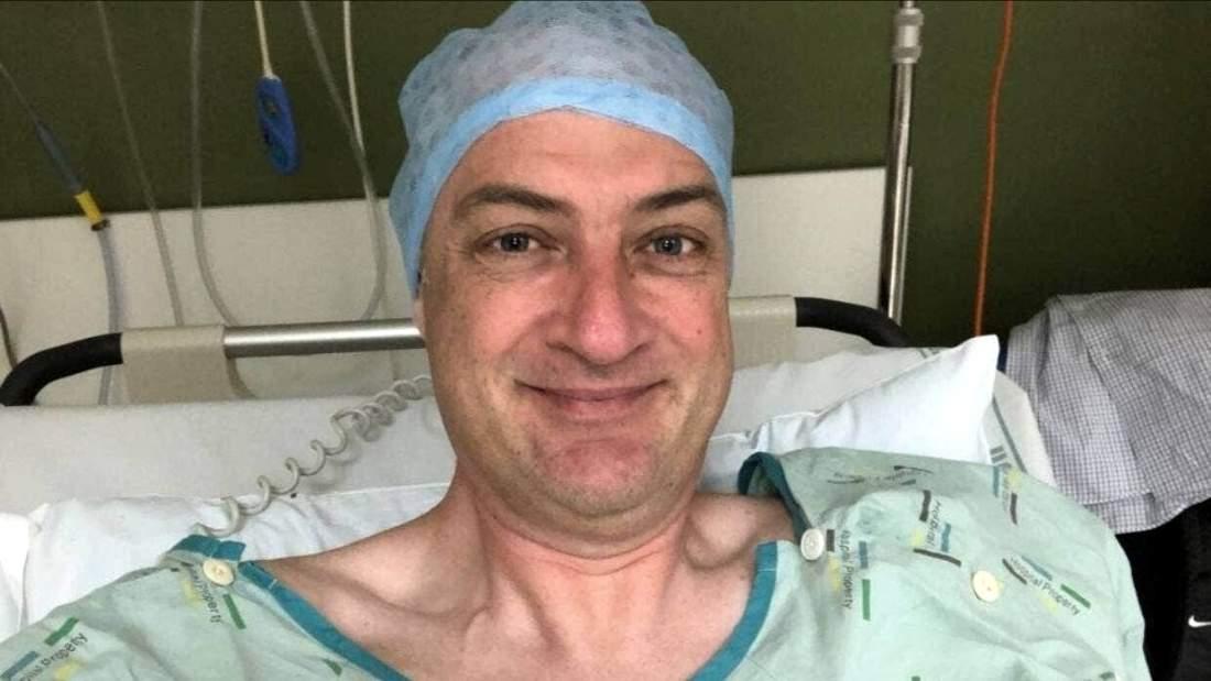 David Downs in hospital